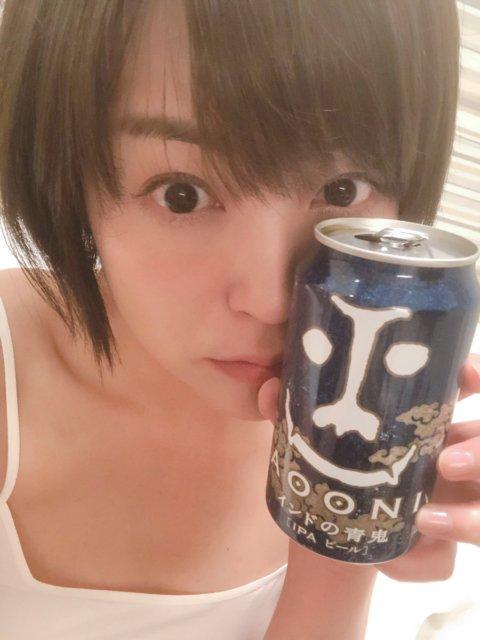 八幡愛とビール